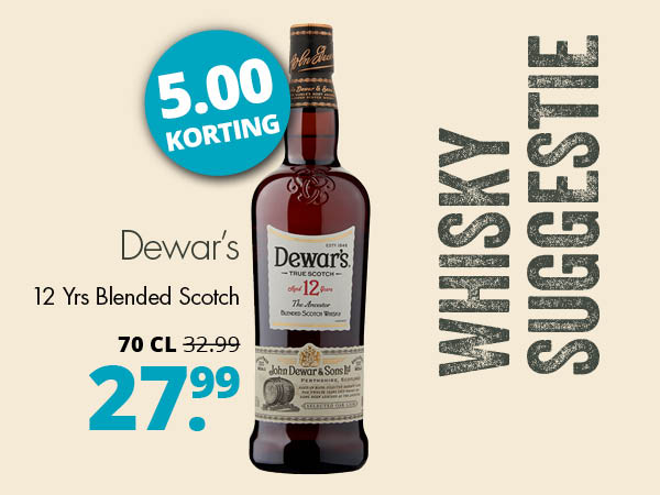 Whisky suggestie Dewar's 12 yrs
