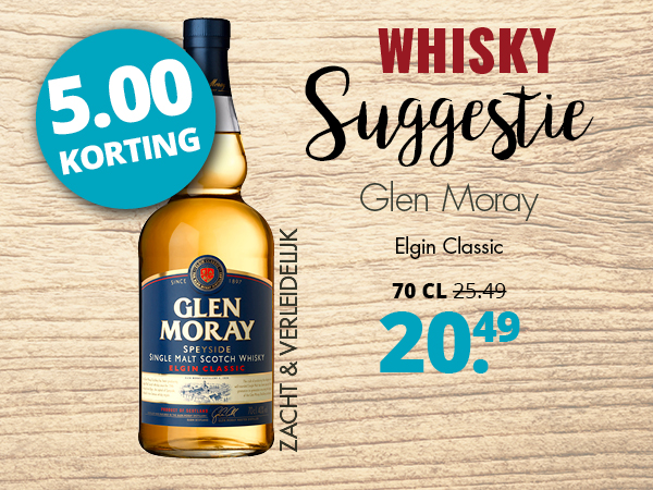 Whisky suggestie Glen Moray Elgin Classic