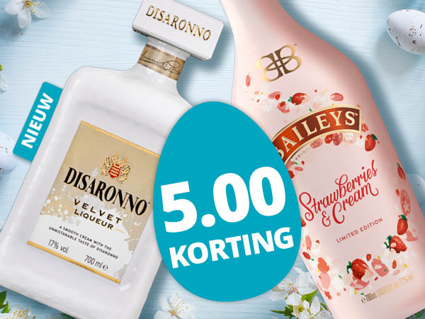 Disaronno Velvet of Baileys Strawberry met 5.00 korting