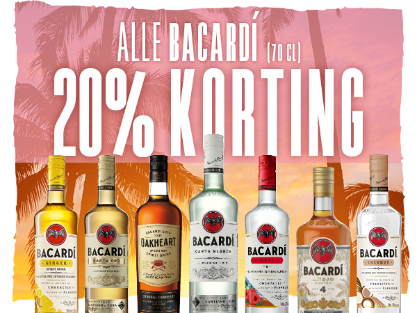 Alle Bacardi (70 cl) 20% KORTING!