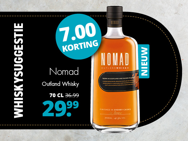 Whiskysuggestie: Nomad Outland Whisky voor 29.99