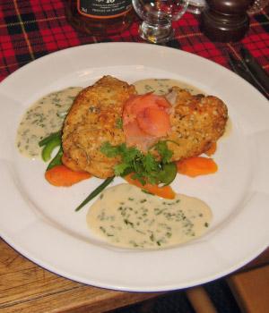 Highland Chicken met gerookte Schotse zalm