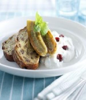 Wentelteefje van rozijnenbrood bereid met Rodenbach