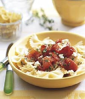 Kruidige pasta met geitenkaas