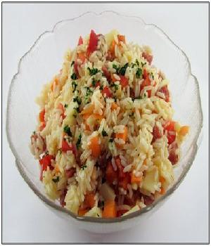 Rijstsalade met groenten