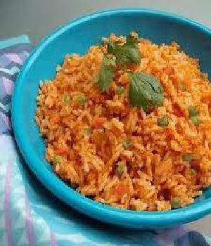 Mexicaanse rijst met pepers