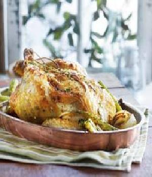 Gevulde kip met pistachenoten