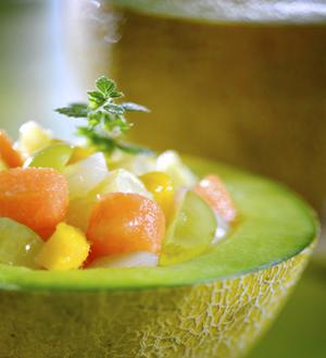 Meloen met fruit