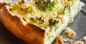Quiche met broccoli en noten