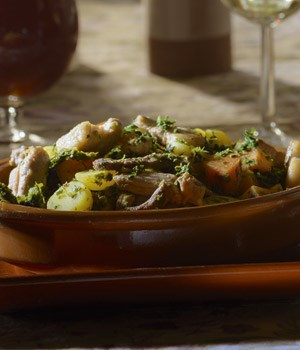 Herfstige stoofpot met boerenkool
