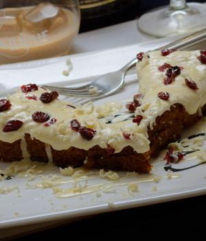 Cranberry cheesecake