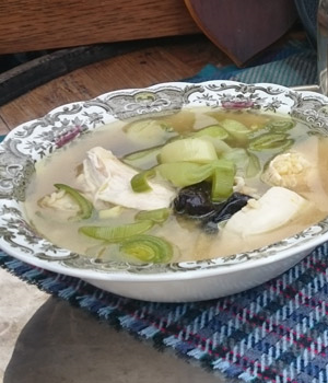 Cock-a-leekie soep