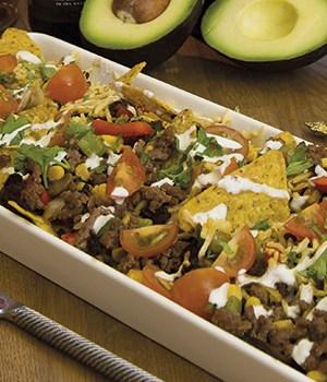 Mexicaanse ovenschotel met taco's