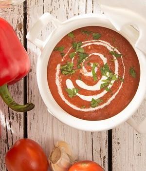 Koude pomodori soep