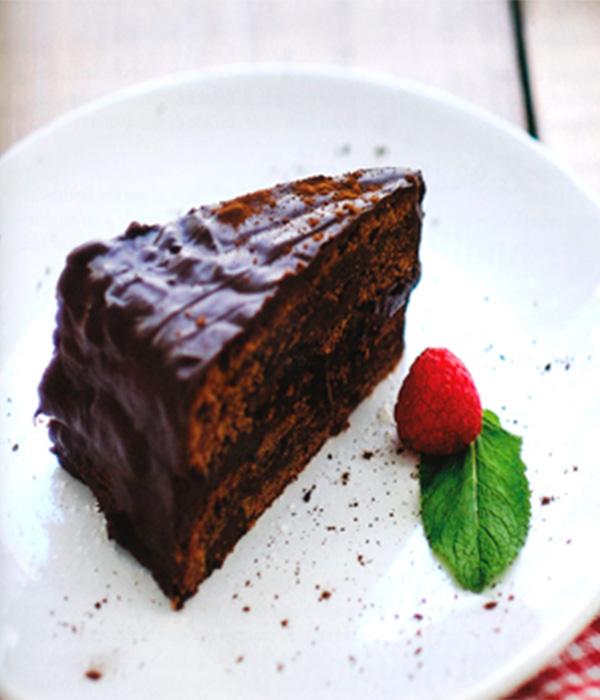 Chocoladetaart met pure chocolade